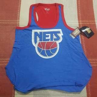 Legit BNWT NBA G-III 4HER Carl Banks Brooklyn New Jersey Nets Women's Jersey Tanktop T-Shirt Large