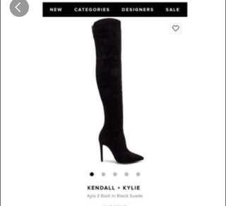 Kendall + Kylie thigh high boots
