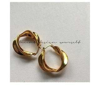 Céline inspired earrings- 24k gold plated