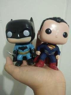 Superman and Batman Figurine