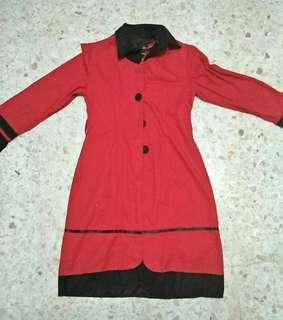 Red Long Coat #MHB75