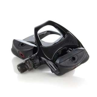 (Discount) Original Black Silver White Shimano R540 Pedals With Pair of Shimano SH11 Cleats