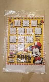 Mickey 2019 月曆 calendar