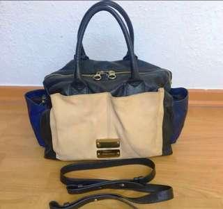 Authentic SEE BY CHLOE Nellie Colorblock Satchel With Crossbody Strap, Preowned, well looked after