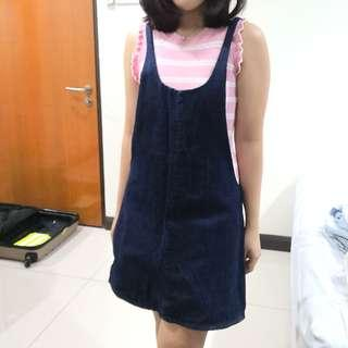 Zara Denim Pinafore