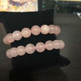 🥰全新🥰10mm極粉蔷薇粉晶
