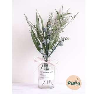 INS Dried Flower Bouquet Jar - Budding Love