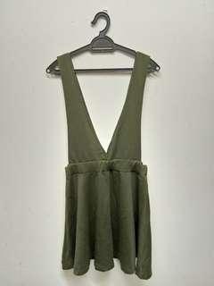 Army Green Dress+ white top
