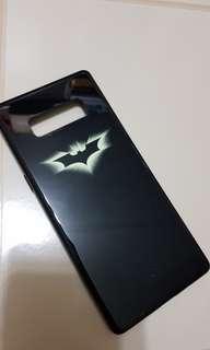 Samsung Note 8 glow in the dark batman glass case