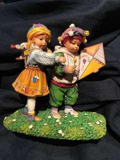 英國出口樹瓷兒童遊戲像
