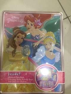 Princess story books, activity books, stickers
