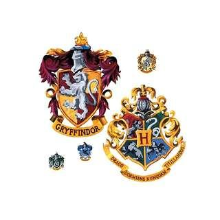🔥Gryffindor & Harry Potter House Crest Giant Wall Decal