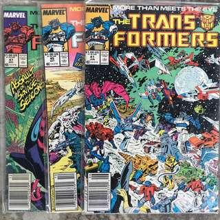 Transformers 1984 Marvel Issues 41, 44, 45, 47, 48, 49