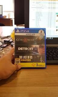 Kaset ps4 second god of war & detroit
