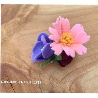 🚚 Handmade Thea felt floral Headband / Hair clip
