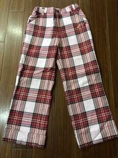🚚 經典泰迪熊格子長褲