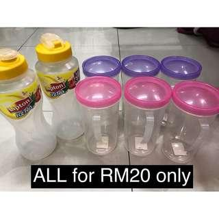 New 8 pcs water tumbler ALL RM20 only