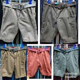 Plain Colored Short With Belt