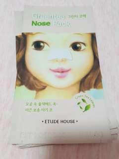 Etude house greentea nose pack x 6