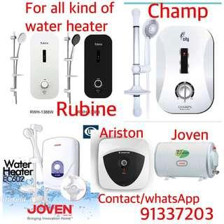 Water heater all the types- repair/sell & Installation contact 91337203