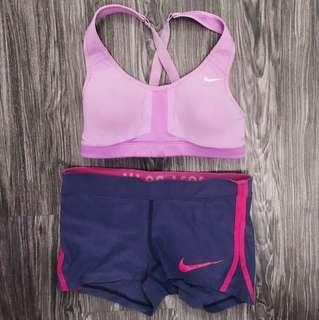 Nike sports bra & shorts