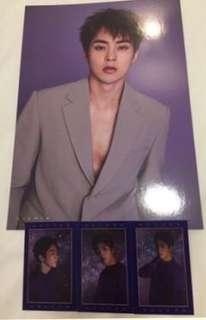 Xiumin Season Greeting Poster with Wish Cards