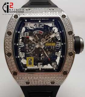Richard Mille Rm 30 Declutchable Rotor White Gold Top Diamonds - Brand New Complete Set