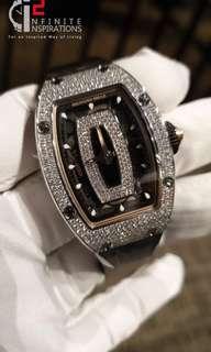 Richard Mille RM 07-01 White Gold Full Set Diamonds Black Onyx Dial - Brand New Complete set.