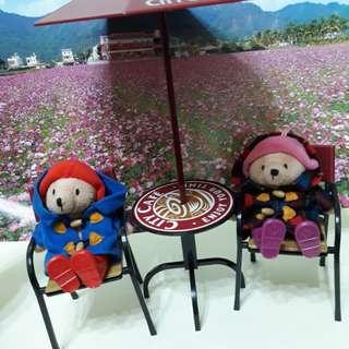 柏靈頓熊公仔+咖啡桌椅擺飾