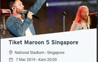 Tiket Concert Maroon 5 - Singapore