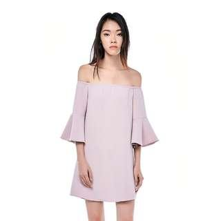 TEM HELSIE FLARE-SLEEVED DRESS