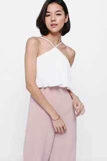 Love Bonito Jociera Pleated Layer Midi Jumpsuit in Blush