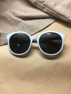 🚚 米白 大圓框太陽眼鏡墨鏡 #一百均價