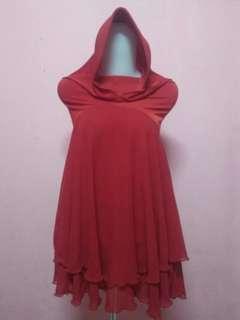 Jilbab / Khimar Merah