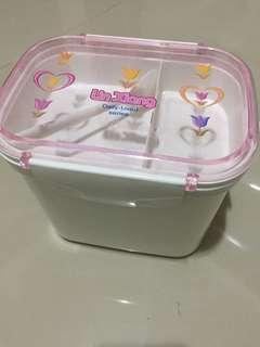 🚚 全新雙層扣式餐盒 野餐盒