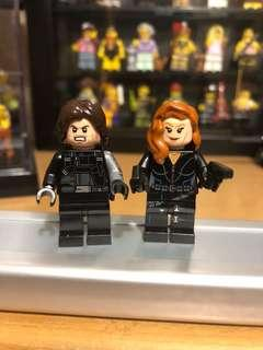 Lego 人仔 Minifigures - Black Widow & Winter Soldier