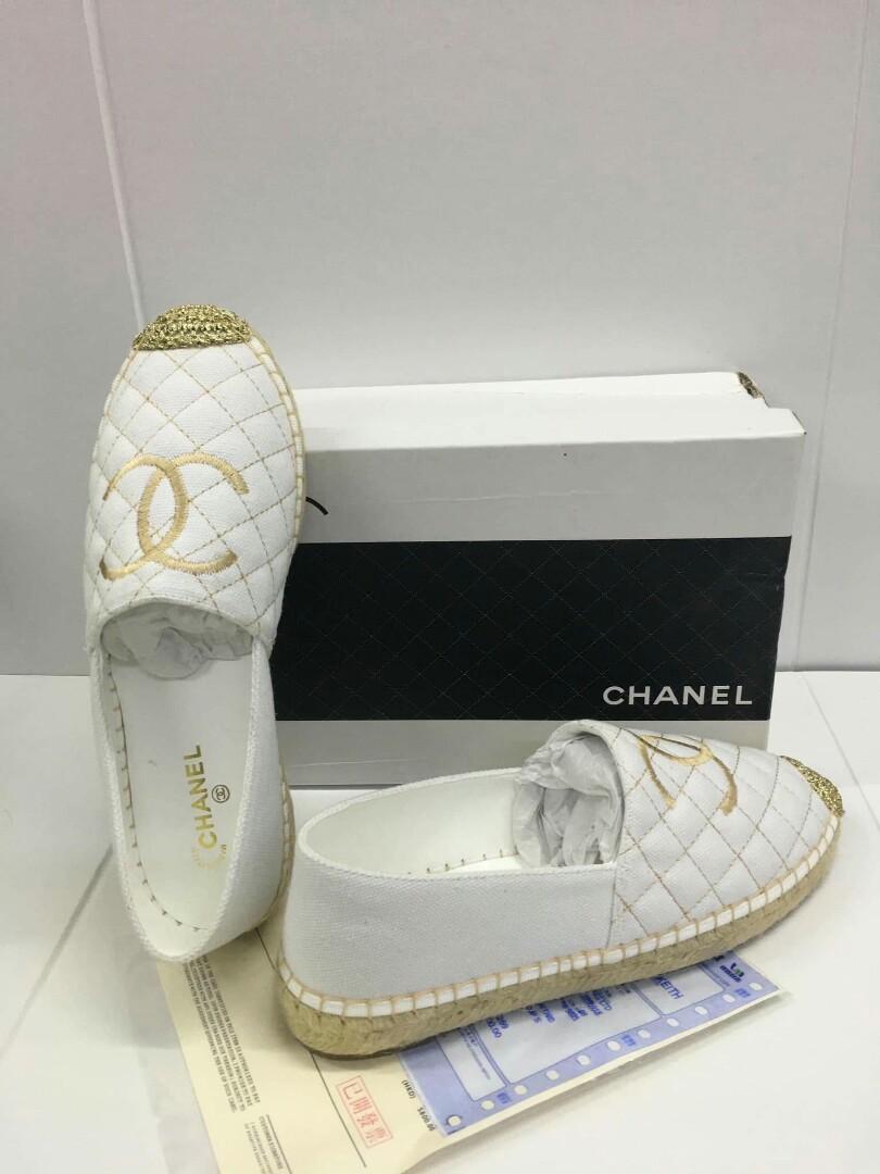 1ab1a09cd769 35-41 CLEARANCE SALE Chanel Espadrille CC Espadrille Chanel ...