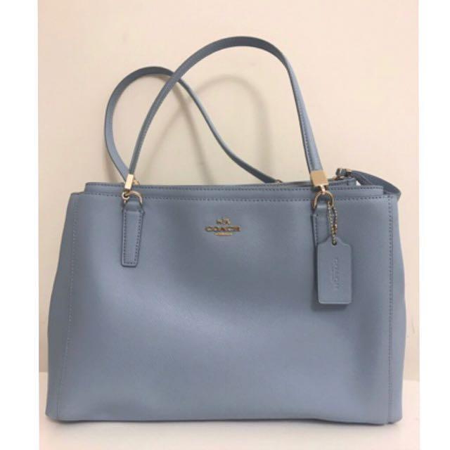 99.9% new Authentic Coach Christie Crossgrain Leather Handbag