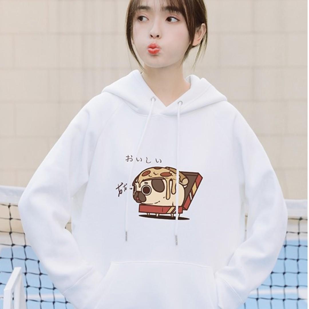 [ PO ] 2019 Spring Couple \ Unisex Oversize Pug | Dog Graphic Sweater