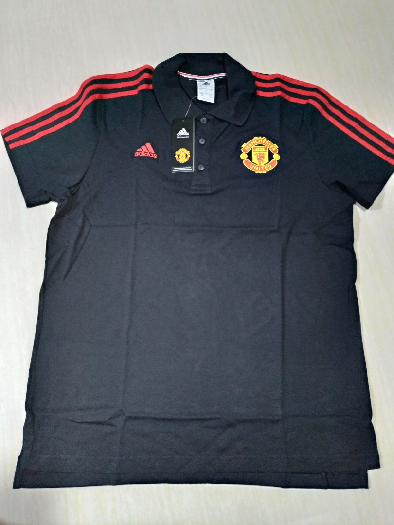 c7631acc52b Adidas Authentic Manchester United Polo T, Men's Fashion, Clothes ...
