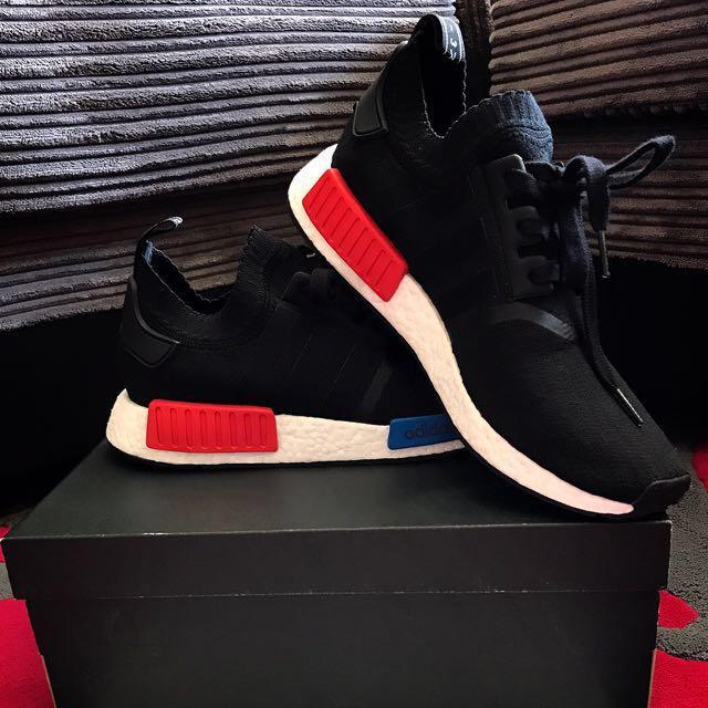 adidas NMD R1 OG Primeknit Black Red - UK9 0be487dcb