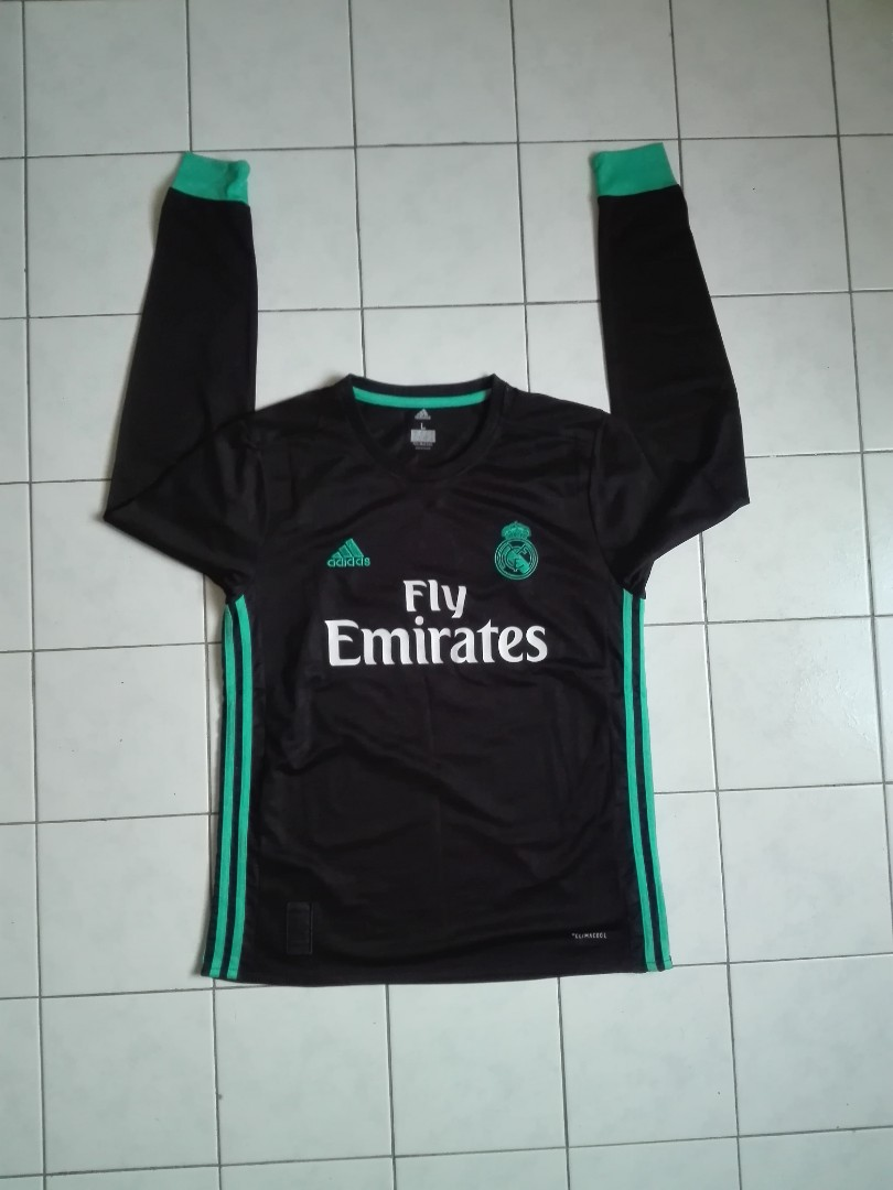 huge discount ad4cf 379c3 Adidas Real Madrid Third Kit 17/18 Longsleeve