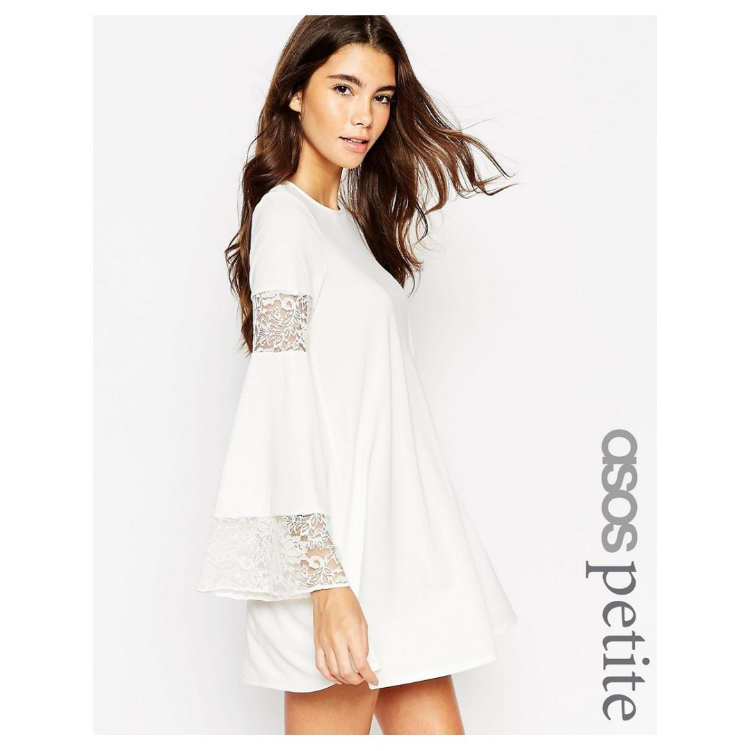 6f1563f08275 asos petite lace swing dress in white, Women's Fashion, Clothes ...