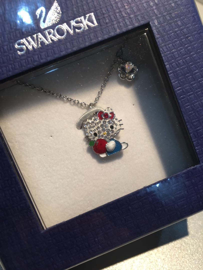 37f66e865 Authentic Swarovski Hello Kitty Red Apple Pendant, Women's Fashion,  Jewellery, Necklaces on Carousell