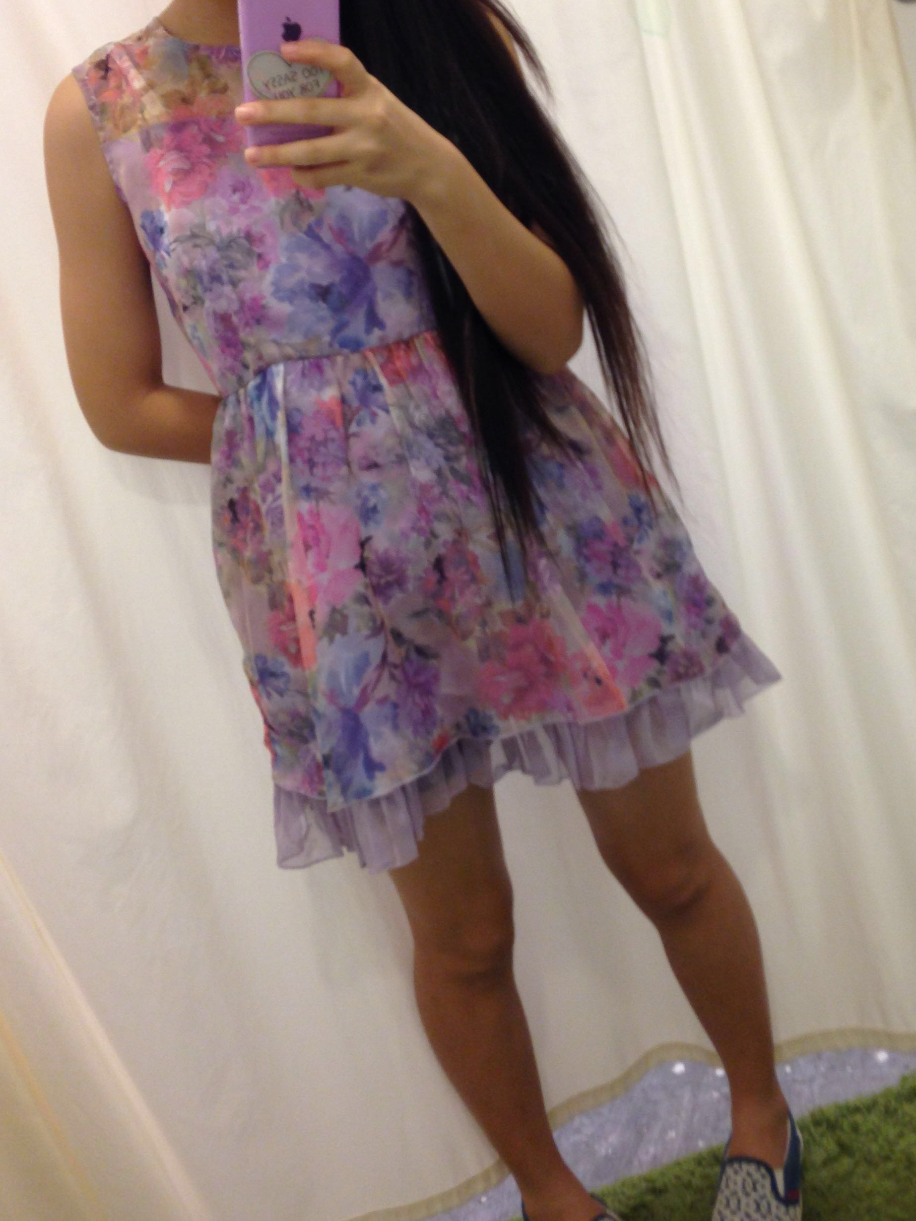 Baby doll purple floral dress from scape