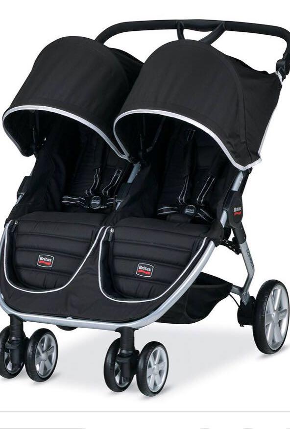 Britax B Agile Tandem Twin Double Stroller Black