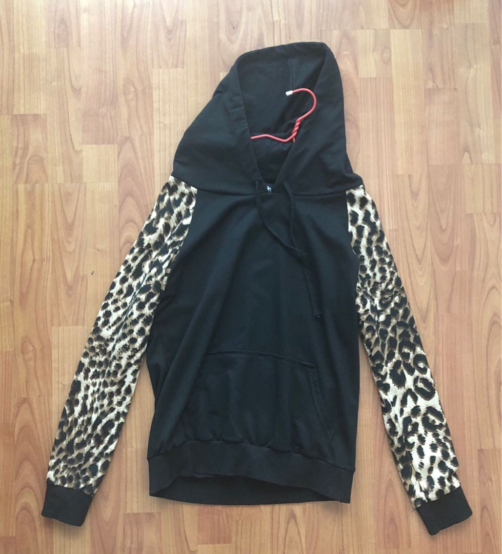 746351672858 Fourskin Leopard Print Hoodie, Men's Fashion, Clothes, Outerwear on ...