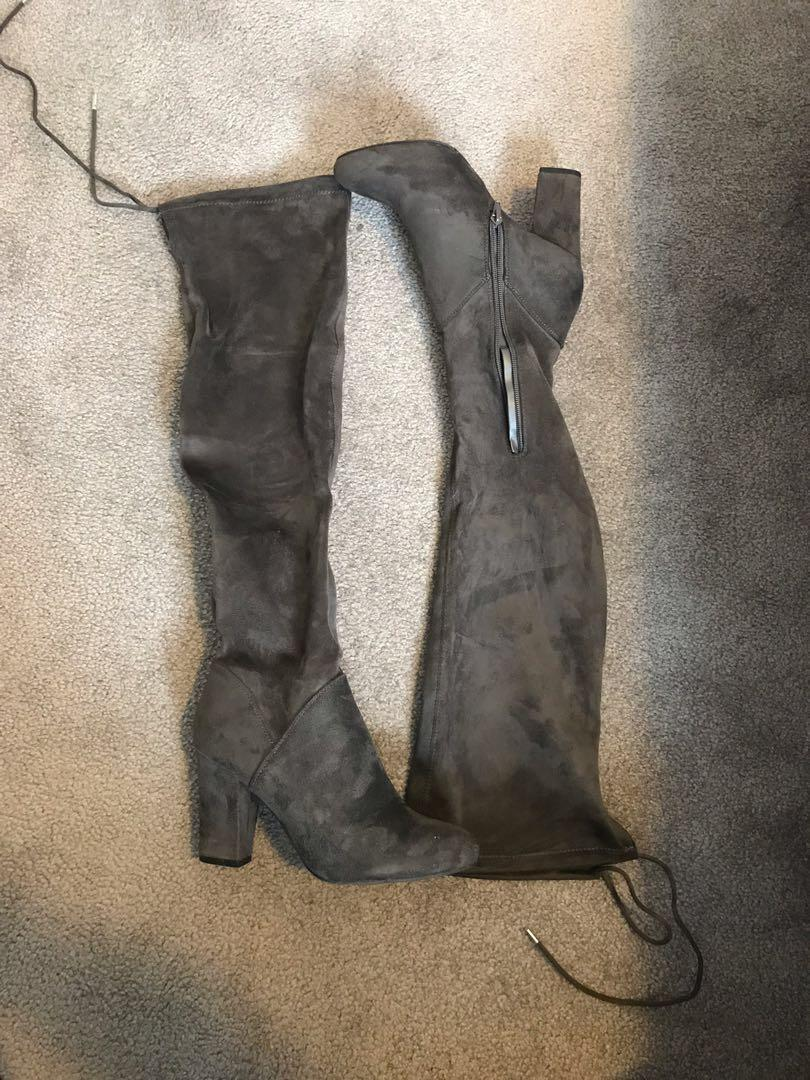 CULKIN Grey Stretch Textile High Knee Boots - Call It Spring Size 7.5