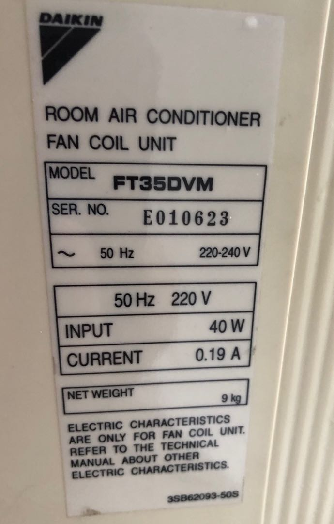 Daikin Aircon A/C Model FT35DVM, Home Appliances, Cooling & Air Care