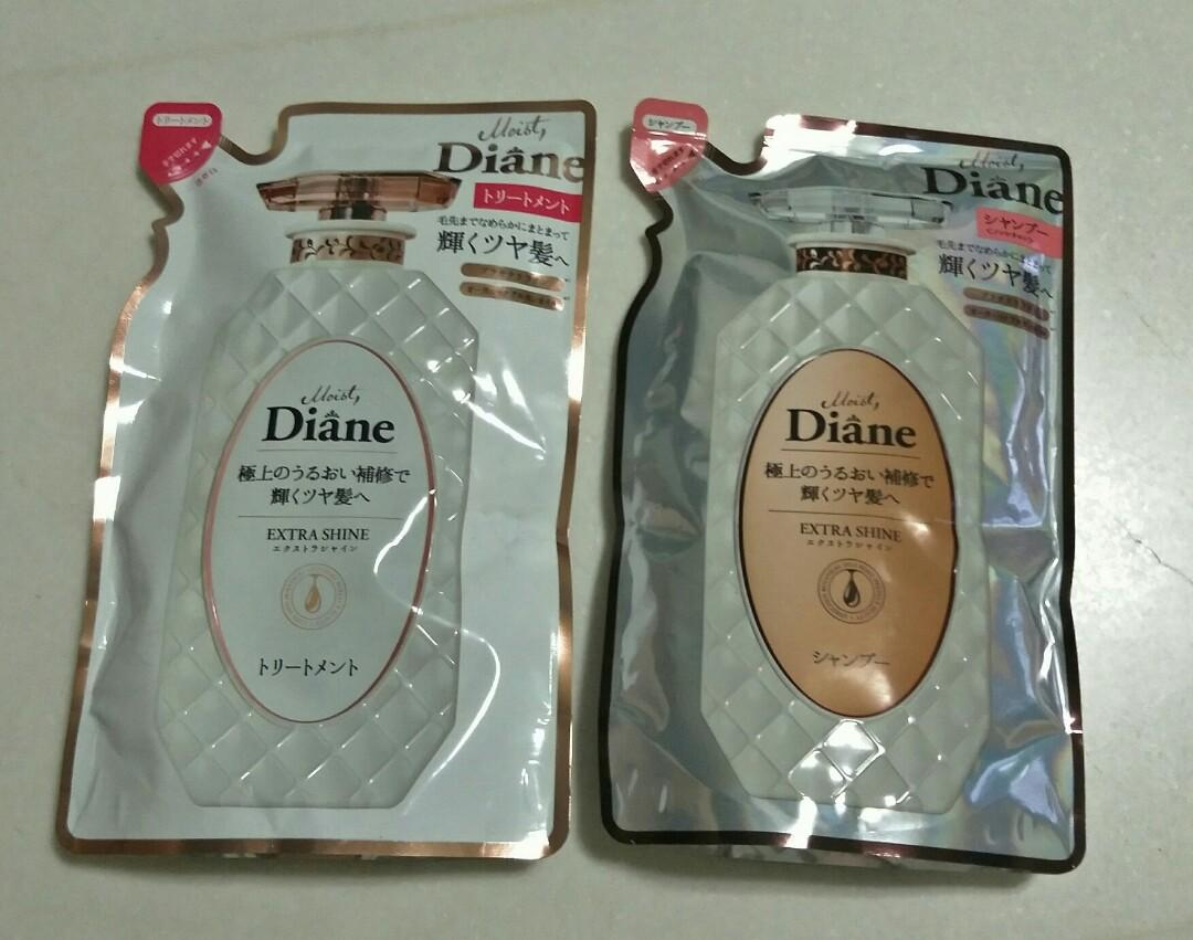 Diane Moist Extra Shine Shampoo / Conditioner Refill Pack (Sold separately)